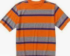 Kids Half Sleeves Stripes T-Shirt