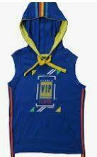 Hoodie Sleeve Less T-Shirt - Unisex, Blue