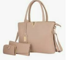 Hand Bag with Clutch Combo
