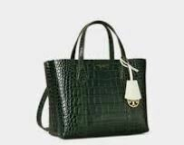 Leather Hand Bag, Green
