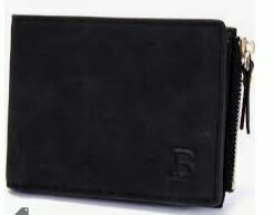 Genuine Gent's Leather Purse with Zipper