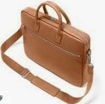 Leather Laptop Bag with Shoulder Strap