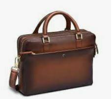 Genuine Leather Laptop Bag, with Arm and Shoulder Straps