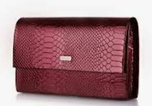 Textured Clutch For Women, Red