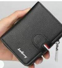 Gents Black Faux Leather Wallet