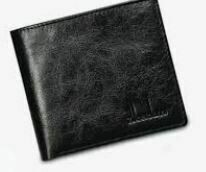 RFID Protected Men's Wallet, Textured Black