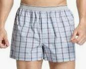 Men's Checkered Cotton Boxer