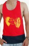 Printed Gym Vest, Sleeve Less