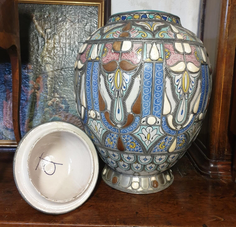 Importante paire de vases