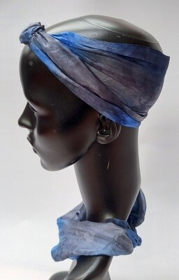 100% Silk Headband / headscarf - hand dyed
