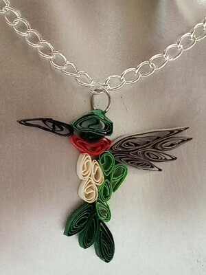 Quilled Hummingbird Necklace