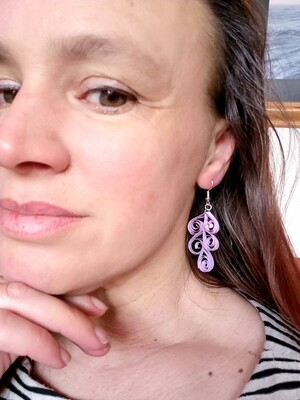 Quilled Drop earrings - various colour options