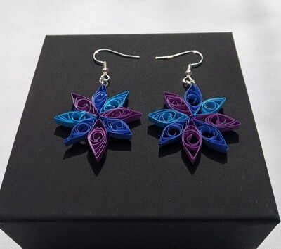 Winter Flower Quilled Earrings  - Gift Boxed