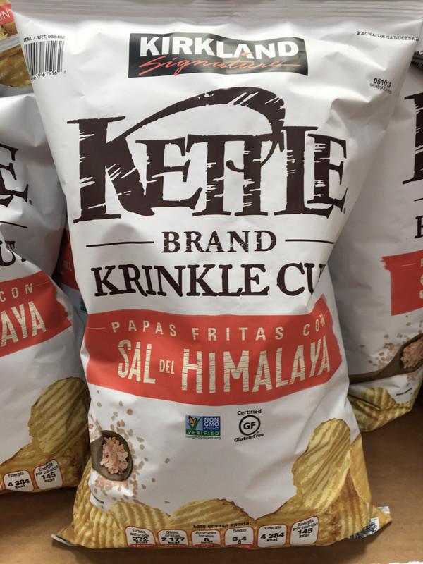 Kirkland Kettle Chips With Himalayan Salt
