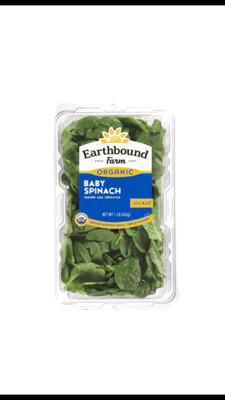 Earthbound Farm Organic Fresh  Baby Spinach (454 g)