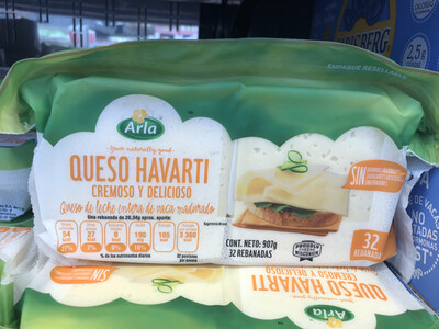 Arla Havarti Creamy Cheese (907g sliced)