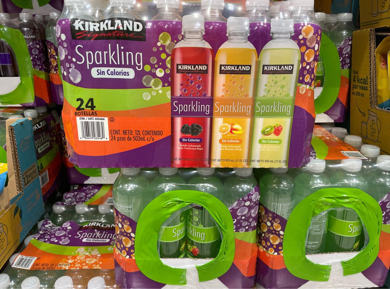 Kirkland Flavored Sparkling Water (no calories) 25/503ml  # *