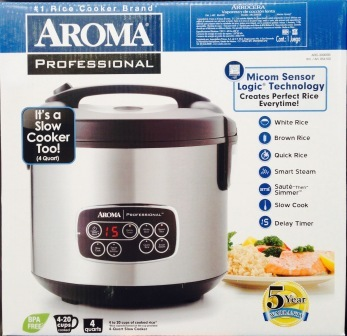 Aroma Professional Rice cooker & Slow Cooker *