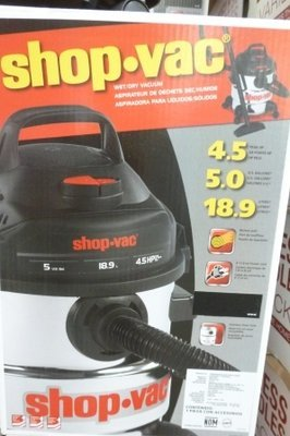 Shop Vac - 5 Gal - 4.5 HP   #