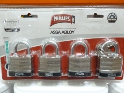 Phillips Padlocks - 4 Pack