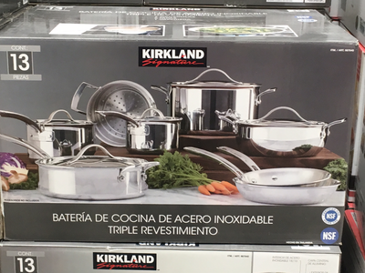 Kirkland Signature Stainless Steal Pot and Pan set. (13 pieces)