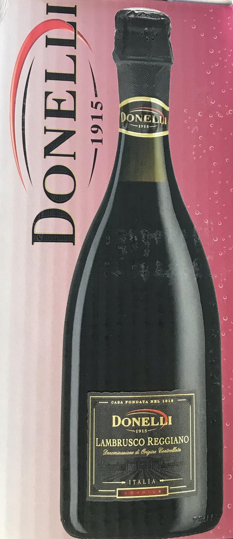 Donelli Lambrusco sparkling red wine 750ml