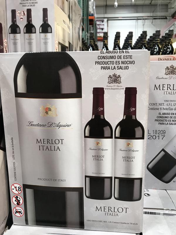D'aquino Merlot red wine