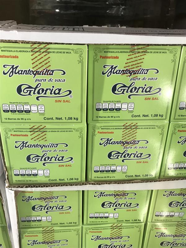 Gloria unsalted butter 12/90g