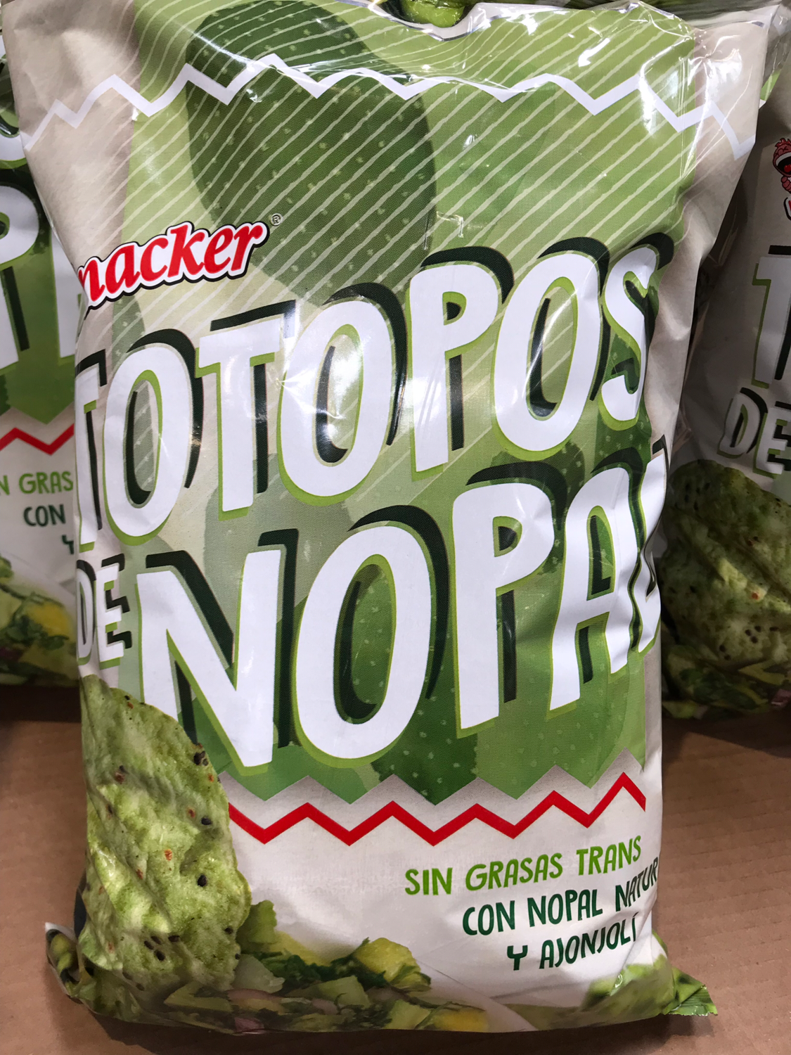 Nopal Totopos with sesame 800g
