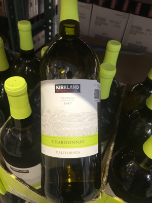 Kirkland Chardonnay white wine *