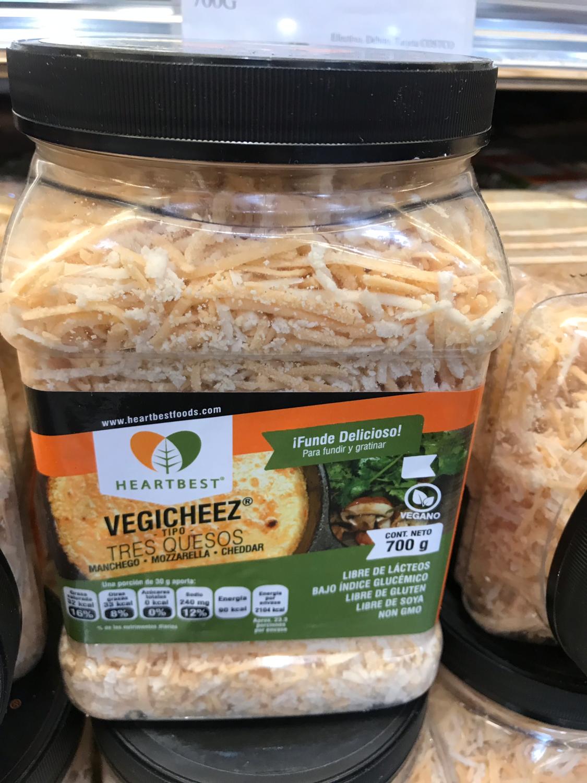 Heartbest Vegan shredded cheese (manchego, mozzarella, cheddar)