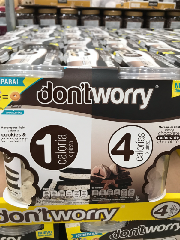 Don't Worry Meringue cookies- double pack (cookies and cream/Strawberry)
