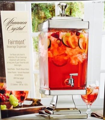 Shannon Glass Crystal Drink Dispenser