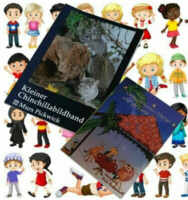 Bücherset: Chinchillabildband und Glühwürmchen Michel