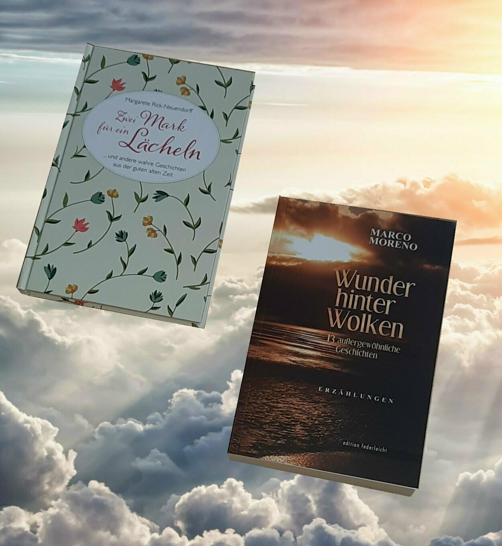 Bücherset: Zwei Mark für ein Lächeln & Wunder hinter Wolken