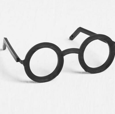 Очки для игрушек, набор 2 шт., размер: 1 шт. 1*22,5*3 см, цвет чёрный
