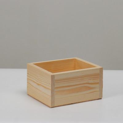 Кашпо деревянное 14.5*12.5*9 см Элегант, натуральный Дарим Красиво
