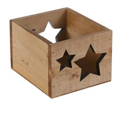 Кашпо деревянное 14.5*12.5*9 см Элегант