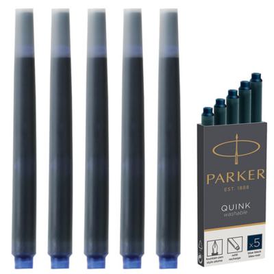 Картриджи чернильные PARKER (Франция) Cartridge Quink, КОМПЛЕКТ. темно-синие