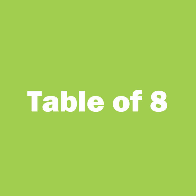 Table of 8 Seats