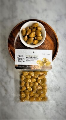 Family Owned Cypriot Green Olives with Almonds (COMING SOON)