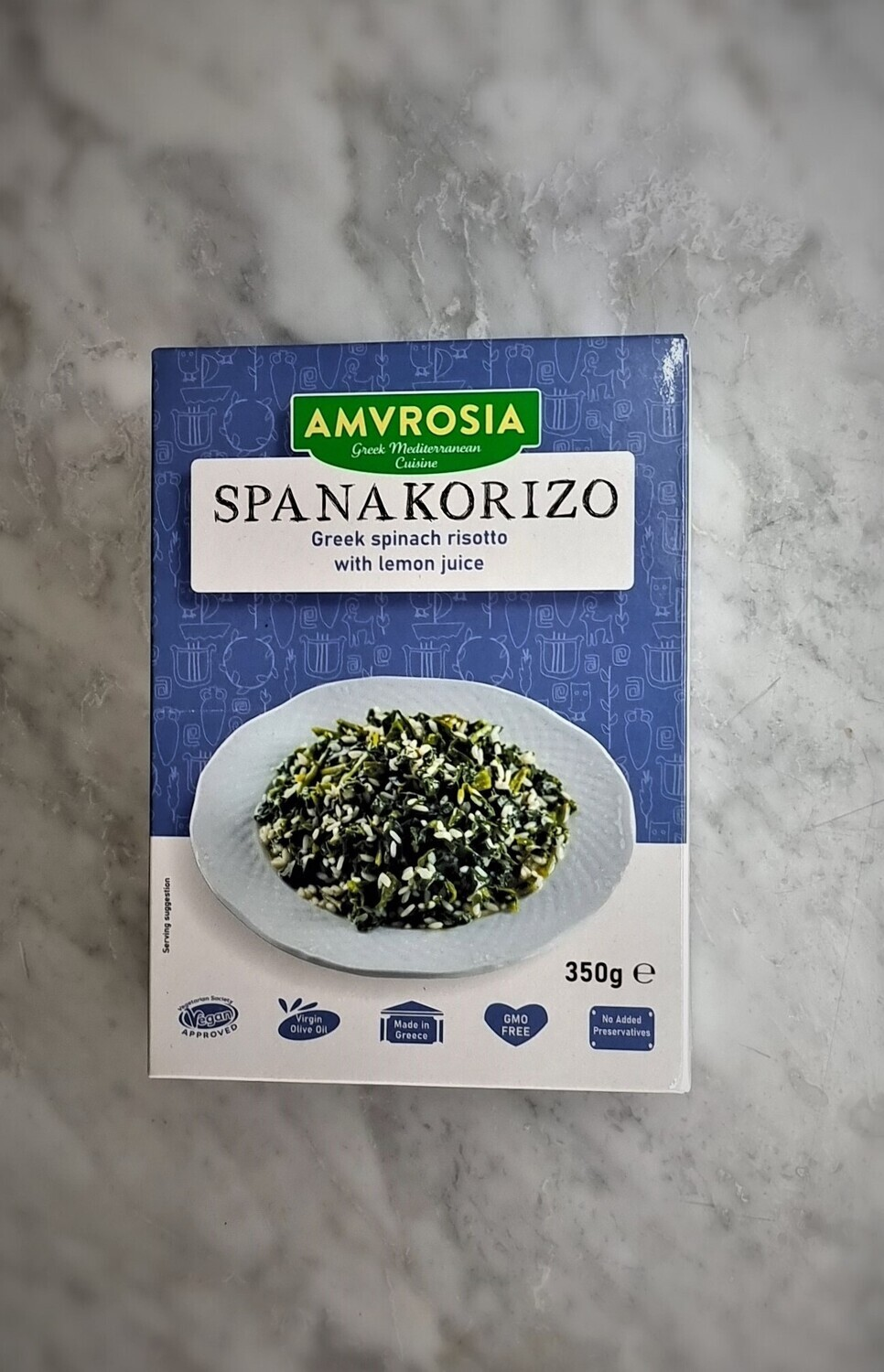 Spanakoriso - Greek Spinach Risotto with Lemon