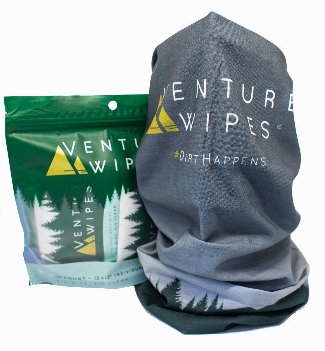 Venture Wipes Bundle 1: 10-Count & Neck Gaiter