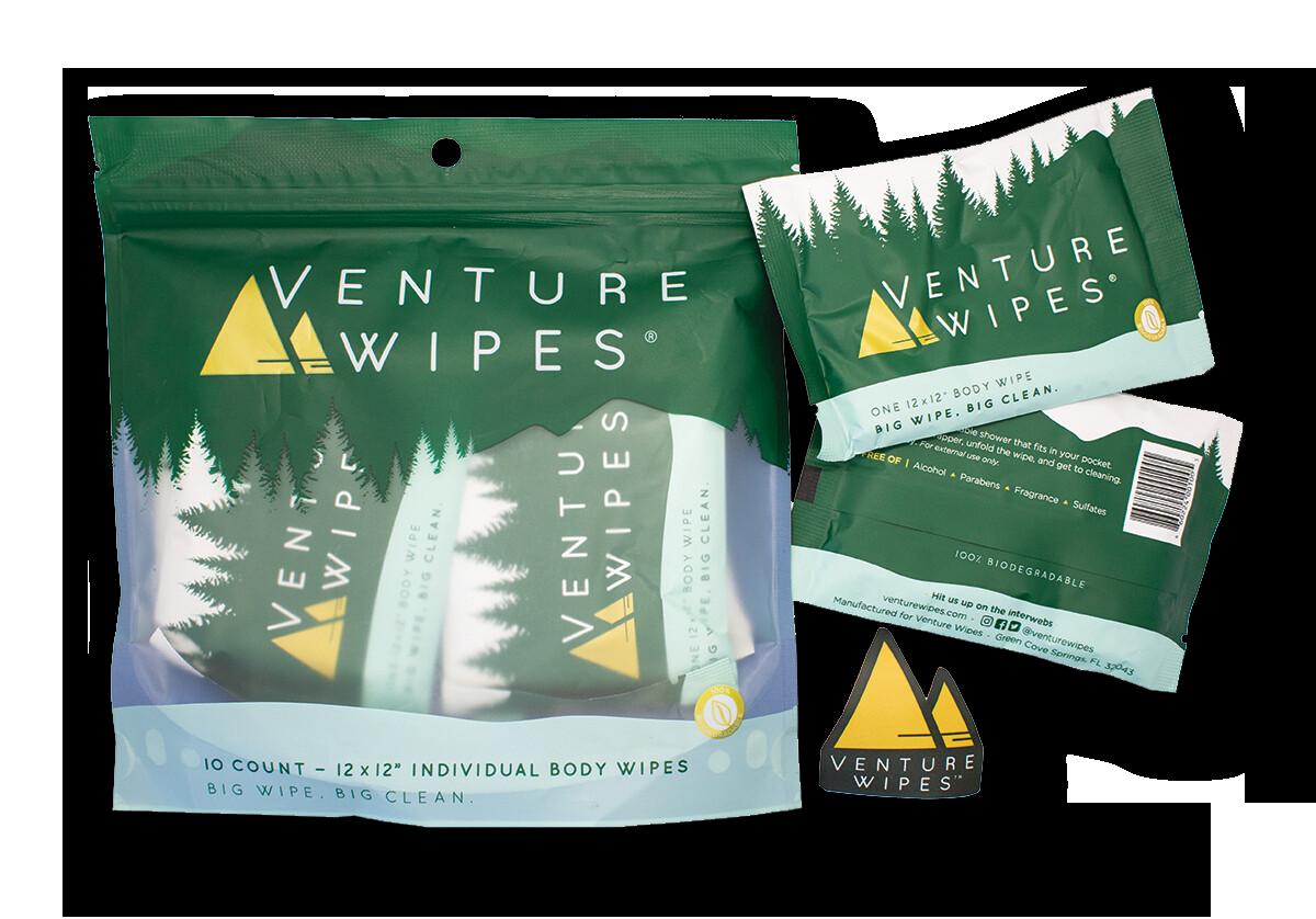 Venture Wipes 10-Count Bag