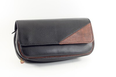 Vinyl 2 Pipe and Tobacco Carry Case