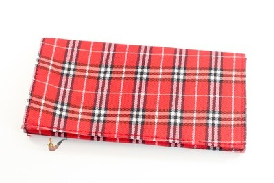 Plaid Cloth Pipe Tobacco Roll up pouch