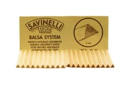 6mm Savinelli Balsa Pipe Filters 20 Pack