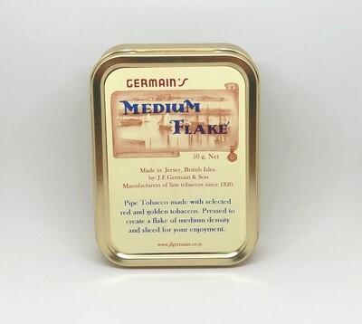 JF Germain Medium Flake Pipe Tobacco 2 oz Tin
