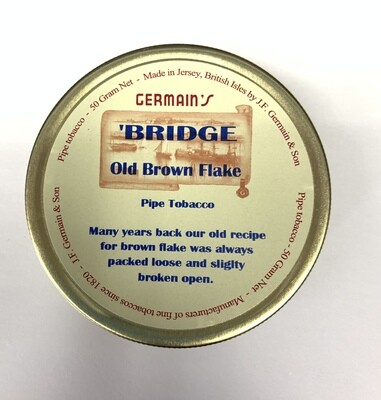 JF Germain Bridge Old Brown Flake Pipe Tobacco 50g Tin