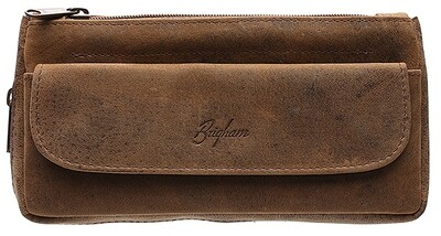 Brigham Vintage Brown Leather Combo Pouch